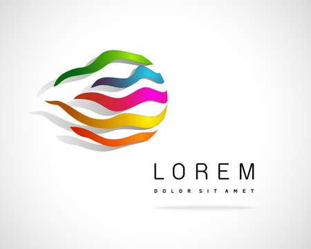 Abstract Vector Logo Design Template. Creative Striped Concept Icon