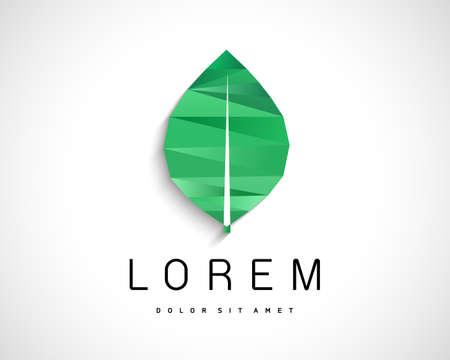 Abstract Vector Eco Green Leaf Logo Design Template. Creative Ecology Concept Icon 일러스트