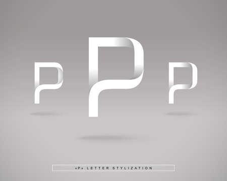 p illustration: Abstract Design Template.
