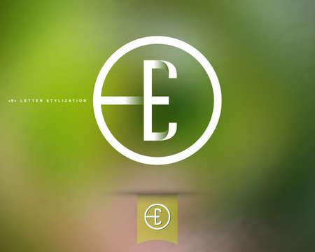 抽象的なベクトルのロゴのデザイン テンプレートです。創造的なコンセプトの丸いアイコン。E 様式