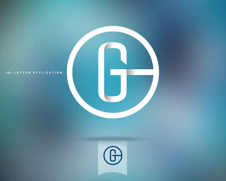 letter g: Abstract Vector Logo Design Template. Creative Concept Round Icon. Letter G Stylization Illustration
