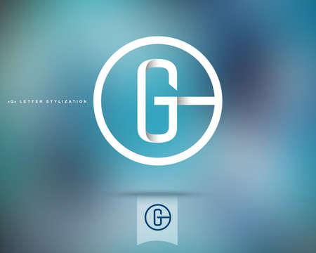 lettre alphabet: Design Résumé Vector Logo Template. Creative Concept icône ronde. Lettre G Stylization