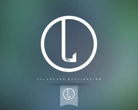 抽象的なベクトルのロゴのデザイン テンプレートです。創造的なコンセプトの丸いアイコン。手紙 L 様式  イラスト・ベクター素材