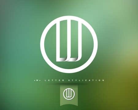 抽象的なベクトルのロゴのデザイン テンプレートです。創造的なコンセプトの丸いアイコン。W の文字スタイル設定  イラスト・ベクター素材