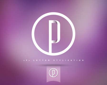 Zusammenfassung Vektor-Logo-Design-Vorlage. Creative Concept Runde Symbol. Buchstabe P Stilisierung Standard-Bild - 44284796