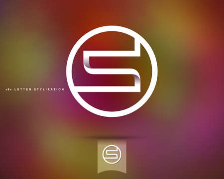 Abstract Vector Logo Design Template. Creative Concept Round Icon. Letter S Stylization Vectores
