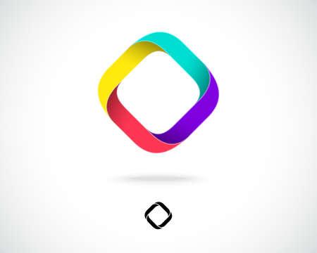 cocao: Abstract Vector Design Template. Creative Square Concept Icon