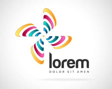 eco logo: Abstract Vector Color Leaf Emblem. Element Design Template. Creative Floral Concept Icon Illustration