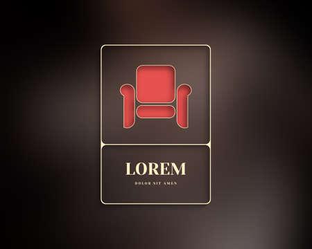 furniture: Abstract Vector Logo Design Template. Creative Furniture Concept Icon