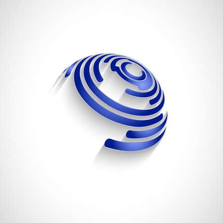 energy logo: Abstract Vector Logo Design Template. Creative Round Concept Icon