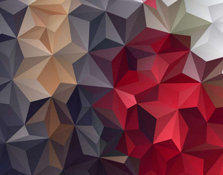 background kaleidoscope: Abstract Triangle Geometrical Red Grey Background, Illustration