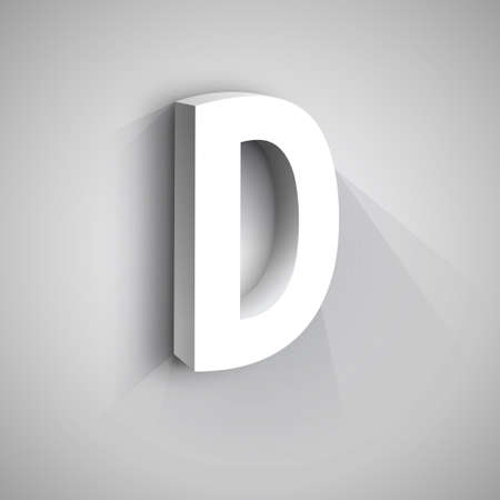 d: Abstract  Design Template. Creative 3d Concept Icon. Letter D Stylization Illustration