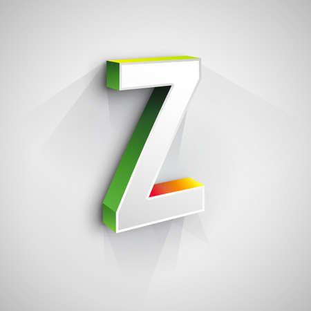 Design Résumé Vector Logo Template. Creative 3d Concept Icône. Lettre Z stylisation