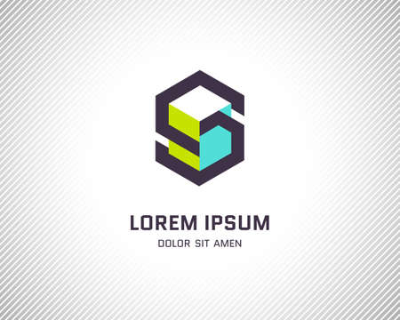combinations: Combination of Letter S. Abstract Design Template. Creative Color Geometric Concept Icon