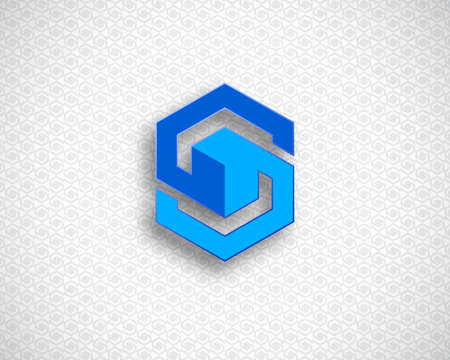 combination: Combination of Letter S. Abstract Design Template. Creative Color Geometric Concept Icon. Illustration