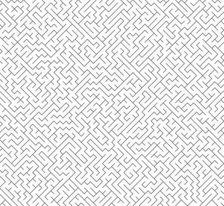 Vector seamless labyrinth maze
