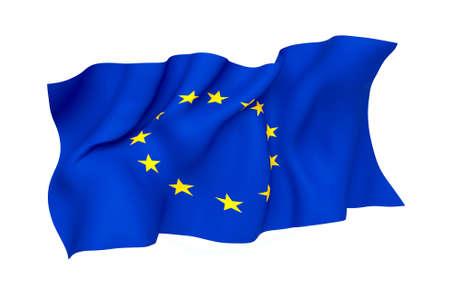 European Union EU Flag Stock fotó