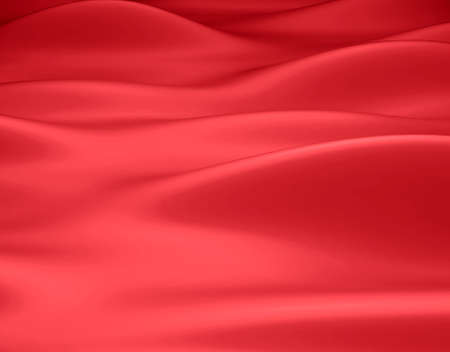 Beautiful Red Satin Fabric for Drapery Abstract Background. Color Silk Fabric. Imagens