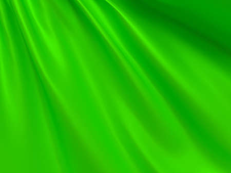 Beautiful Green Satin Fabric for Drapery Abstract Background 3d rendering illustration.