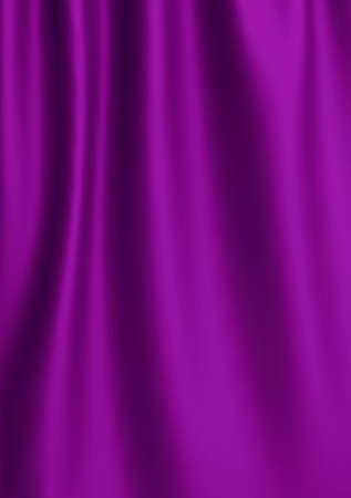 Beautiful Purple Satin Fabric for Drapery Abstract Background. Color Silk Fabric.