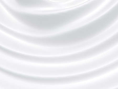 Beautiful White Satin Fabric for Drapery Abstract Background. Silk Fabric. Stockfoto
