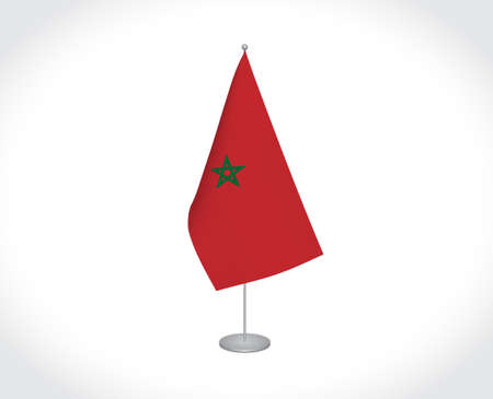 National fabric vector flag of Morocco isolated on white background. Stock fotó - 155333133