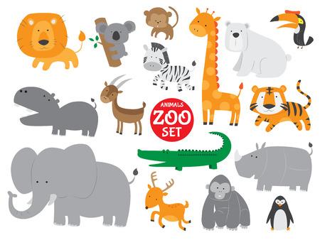 Netter Zootiere Vektor-Set
