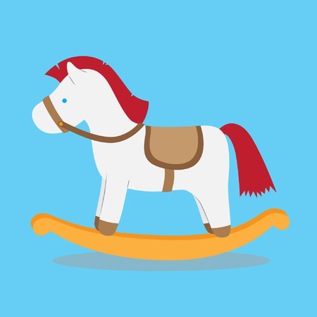 Cute rocking horse toy vector stock