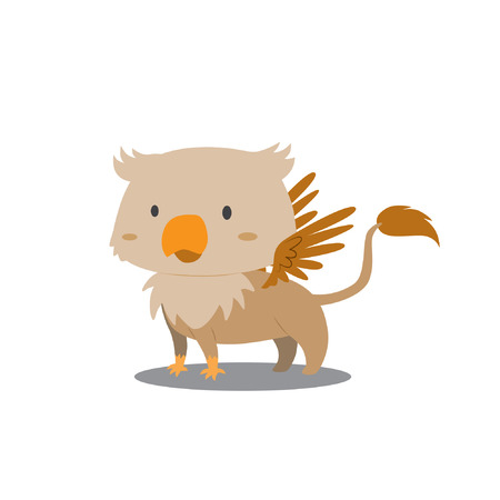 Cute Griffin vector illustration