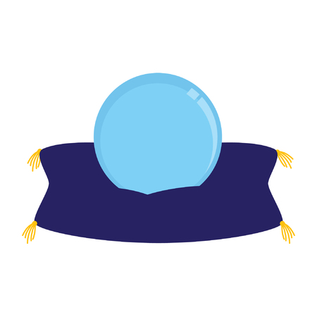 Magic crystal ball vector stock