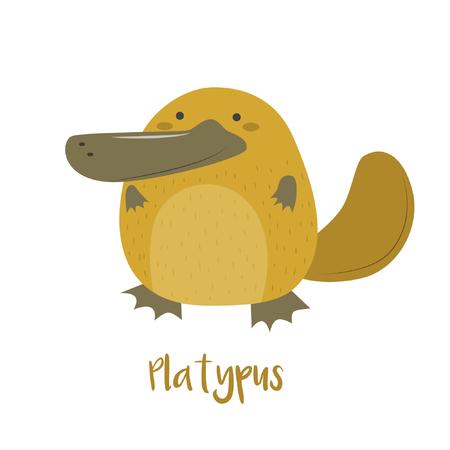 platypus: Cute platypus vector illustration stock