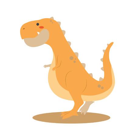 Cute Tyranosaurus Rex dinosaur vector illustration