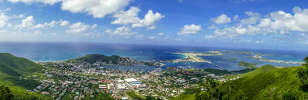 panoramic view of the island of st.maarten