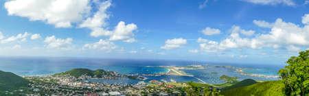 Panaromic view of the beautiful island of st.maarten
