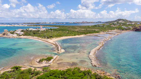 Aerial view of la belle creole on the Caribbean island of st.maarten/st.martin