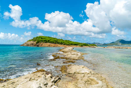 Scenic view of la belle creole on the Caribbean island of st.maarten/st.martin 免版税图像
