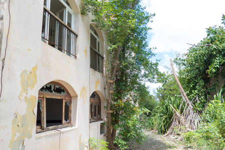 Hurricane causes damages to La belle creole building in the caribbean island of st.martin.