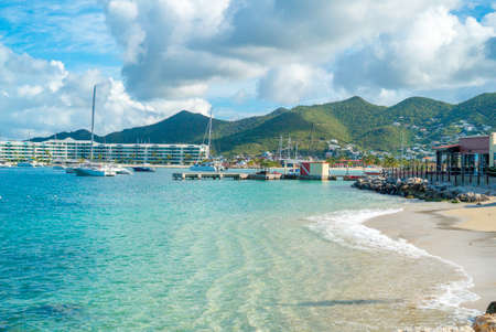 The caribbean island of St.Maarten landscape and Citiscape.