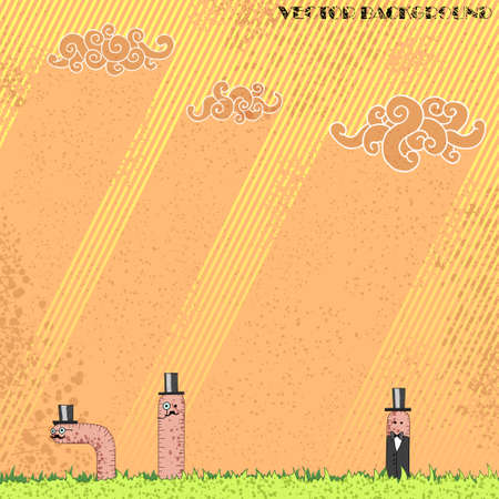 nobleman: Grunge background with worms aristocrats on it