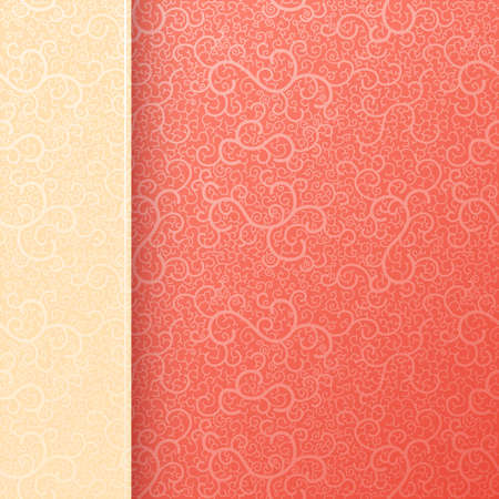 scroll shape: Red swirly abstract background Illustration