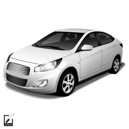 Realistic isolated car with shadow for your design Ilustração