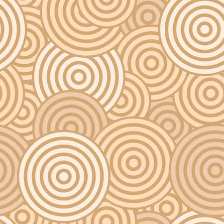 Beige seamless with concentric circles Vector
