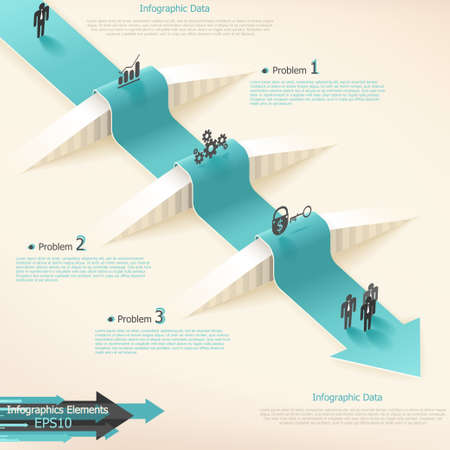 Modern infographics options banner with realistic arrow. Vector. Can be used for web design and  workflow layout