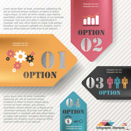 option key: Modern infographics options banner. Vector. Can be used for web design and  workflow layout Illustration