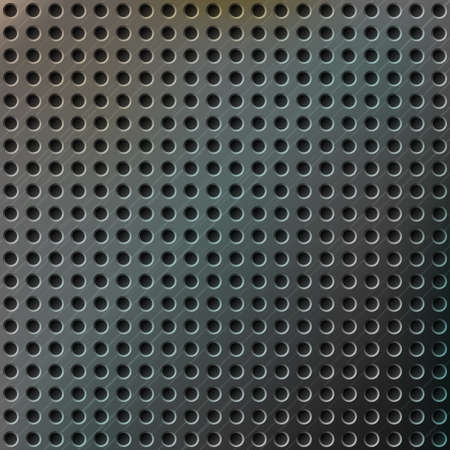Realistic modern metal background with color reflections and perforated texture Stock Vector - 22320475
