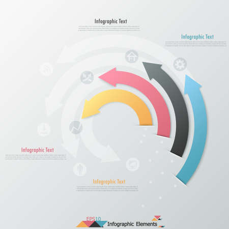 Modern infographics options banner with paper arrows. Can be used for web design and  workflow layout Zdjęcie Seryjne - 24687987
