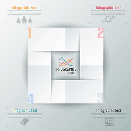 Modern infographics options paper template. Vector. Can be used for web design and workflow layout Vector