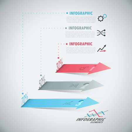 3d Modern infographics options banner with realistic arrows Vector