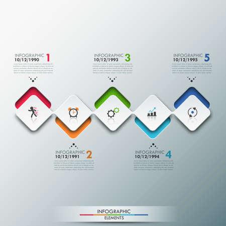 proceso: Plantilla moderna Proceso Infograf�a