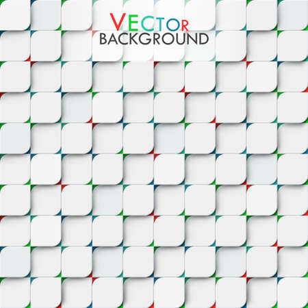 White modern vector geomitric background with little squares with rounded corners Vector